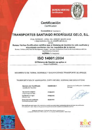 Certificación Medio Ambiente ISO 14001:2004