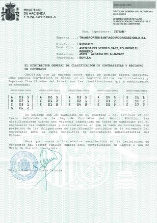 Certificado contratista de obras